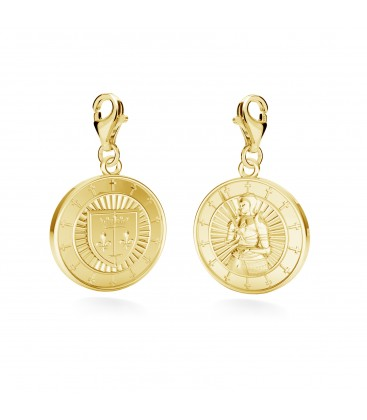 Charms french coin, YA, sterling silver 925