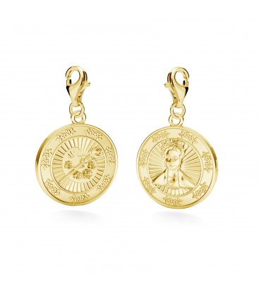Charms mexican coin, YA, sterling silver 925