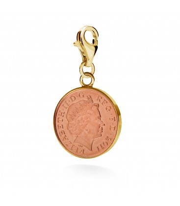 Charms english coin, YA, sterling silver 925