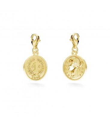Charms coin, YA, sterling silver 925